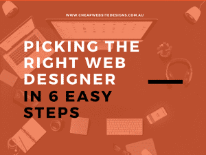 how to pick a cheap web designer